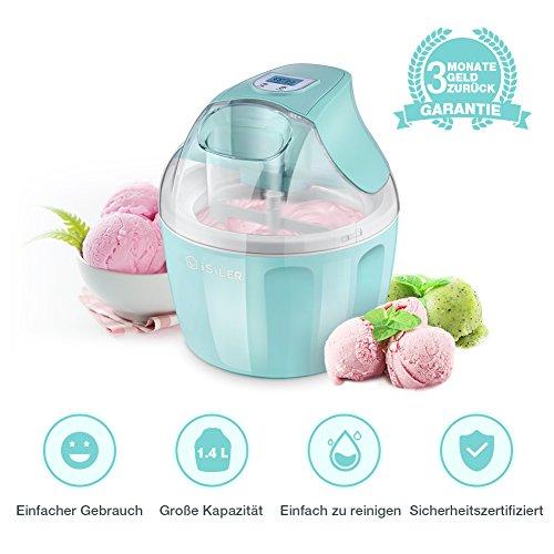 iSiLER Eismaschine, 1,4 L Fassungsvermögen