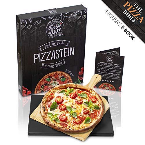 Dolce Mare Pizzastein, schwarz, rechteckig, 38x30 cm