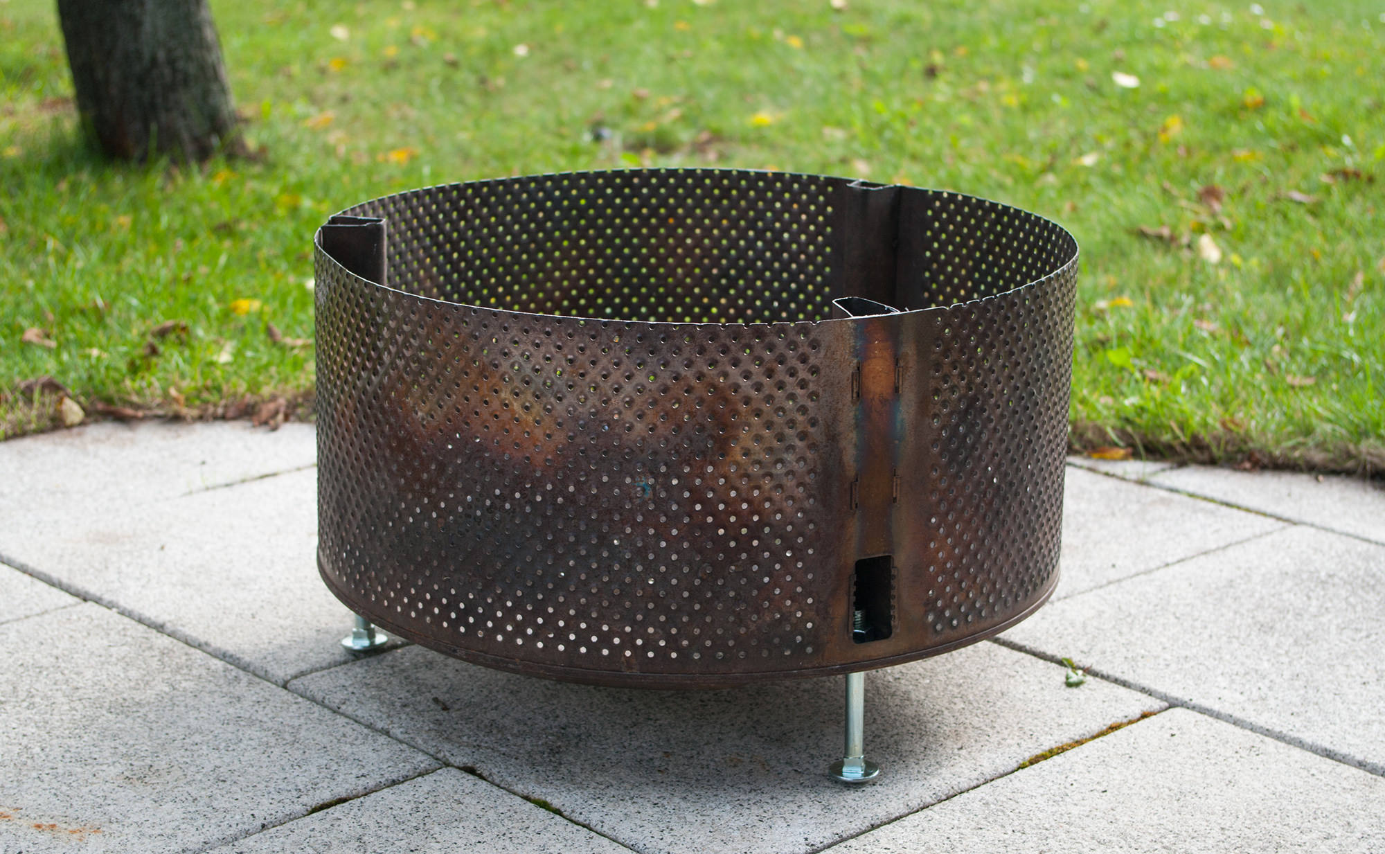 Bauanleitung feuerkorb waschmaschinentrommel