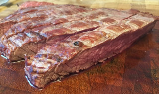Aufgeschnittenes Flank Steak